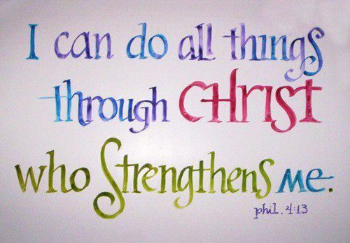 I can do all things through Christ who strengthens me. Phil 4:13 #bible #quote