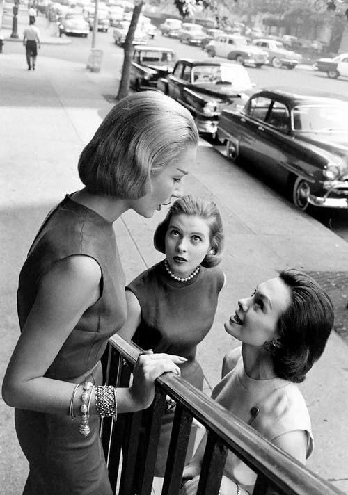 Lovely gossiping ladies...Photo by Nina Leen NYC- 1950s
