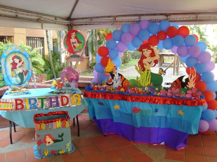 Decoración Fiesta Sirenita   the little Mermaid Decoration ...