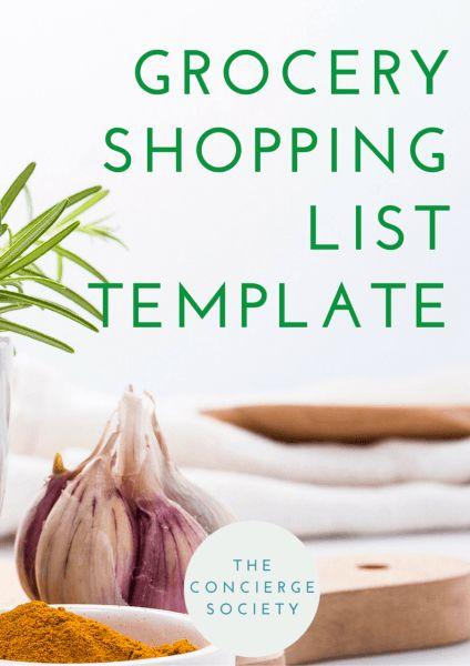 personal concierge grocery shopping template