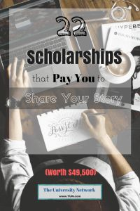 The belowscholarships require you to share a personal experience, struggles you've faced, places you've visited and more! 1. moveBuddha Scholarship – Up to $1,000 – Apply annually by February 1 For the thousands of college students who enroll in out-of-state schools every year, the thought of moving far away from home can be anxiety inducing. That's why moveBuddha is calling you to share your moving-to-college story, to help future students! The student who submits the best story...