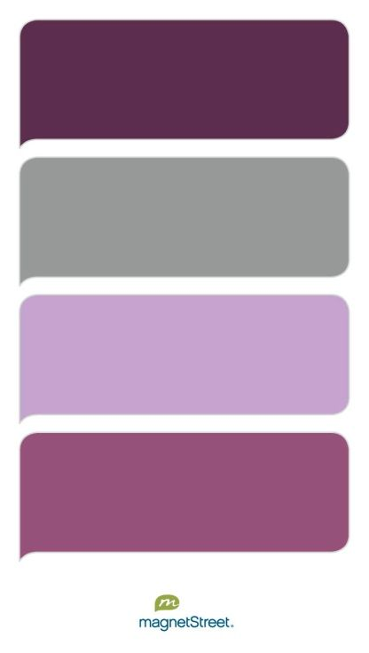 Beautiful purple wedding color palette