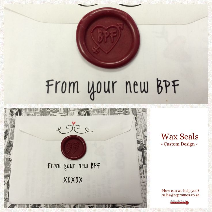 "WAX SEALS - local SA business Outsurance showing some employee-love with these wax sealed love letters that accompanied new phones from their NEW ""BPF = Best Phone Friend"". ‪#‎SayItWithPromo‬ ‪#‎WaxSeals‬"