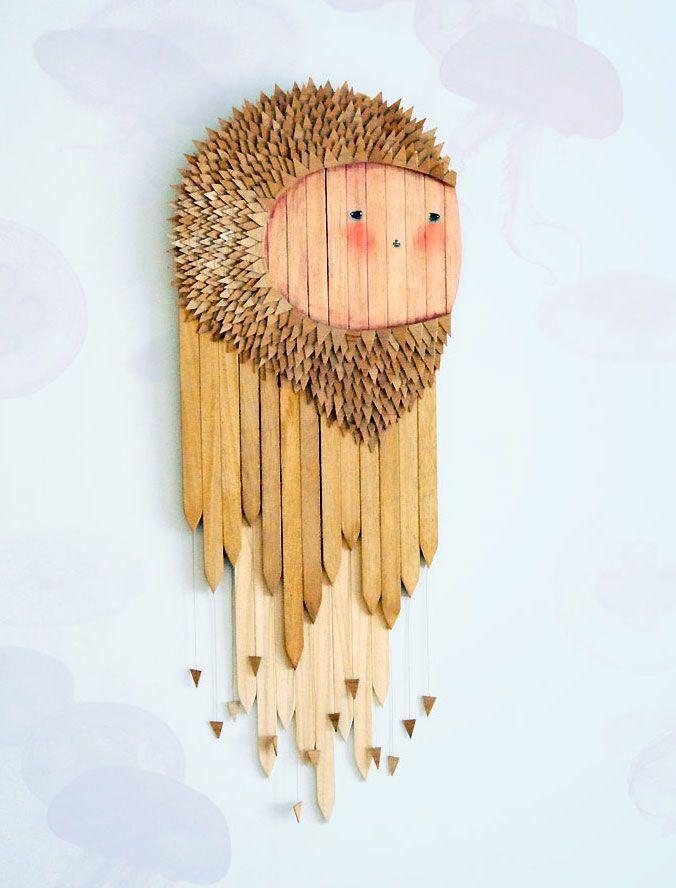 Alessio Nunzi: Wall Art, Crafts Ideas, Fish Art, Alessio Nunzi, Design Ideas, Art Inspiration, Illustration, Jelly Fish, Pencil Art