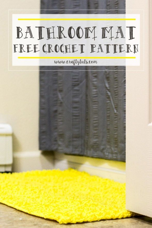Best Crochet Rugs Images On Pinterest Crochet Rugs Crochet - Extra large bath mat for bathroom decorating ideas