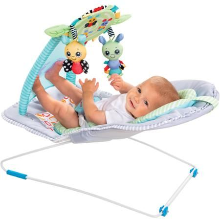 The Sassy Wiggles & Giggles™ bouncer is unlike any other bouncer and is sure to bring baby hours of enjoyment and laughter.