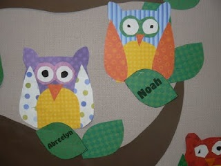Template to make these owls and many other cute classroom ideas!
