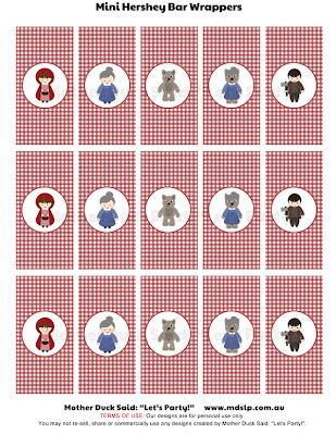 "Little Red Riding Hood Party Decorations    Mother Duck Said: ""Lets Party!"": Little Red Riding Hood Party Printables"