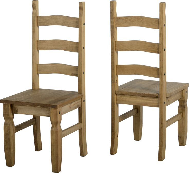 Mercers Furniture® Corona Mexican Pine Dining Chair Pair Set of Corona 3  Rail Back Dining Chairs - Solid Pine. Genuine 3 rail version, not cheaper 2  rail ... - 17 Best Stained Antique Pine Furniture Images On Pinterest