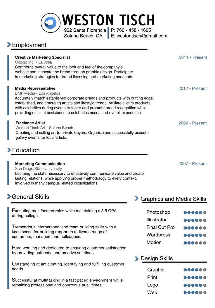 128 best resume images on pinterest