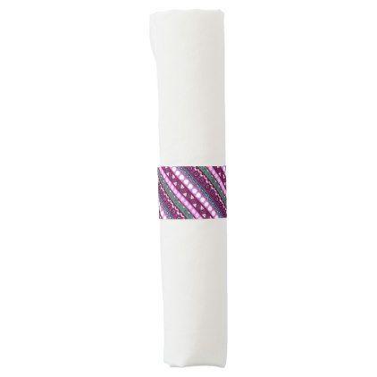 Colorful ethnic patterns design napkin band - individual customized designs custom gift ideas diy