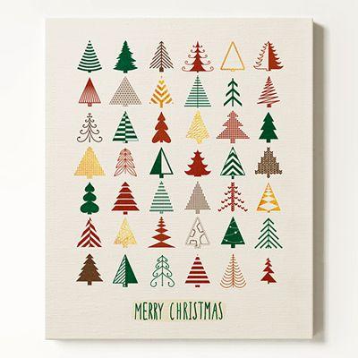 캔버스 카페 장식 인테리어 포스터 액자 크리스마스 트리 세트