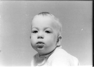 Alfred Hitchcock as a baby (!) he looked the same as an old man...lol