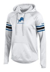 Under Armour Detroit Lions Womens White Fleece Hoodie