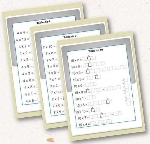 17 meilleures id es propos de jeux sur les for Voir les tables de multiplication
