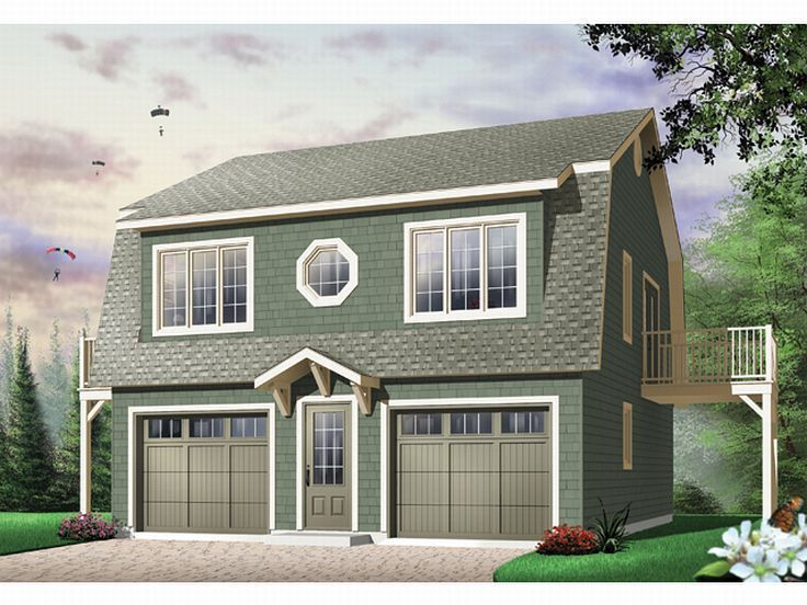 72 best 2 car garage plans images on pinterest for Gambrel apartment garage plans