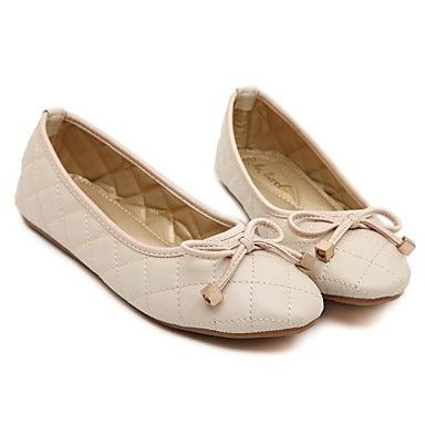 Womens Beige Armani-Inspired Leather Flat Canvas Shoes