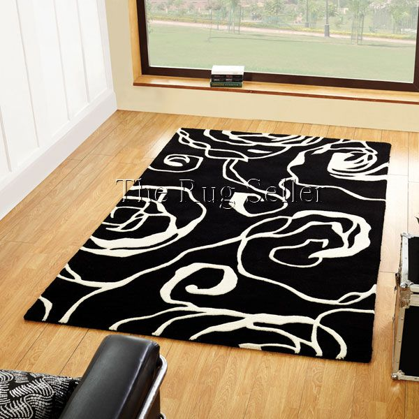 Decotex Allegro Rugs In Black White Online From The Rug Er Uk