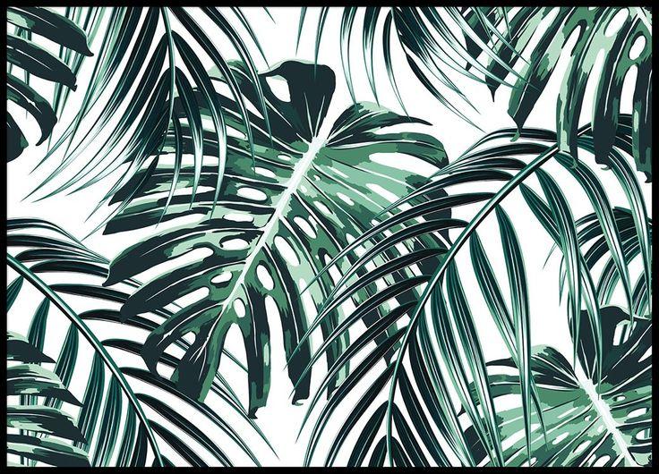 Tropical leaves Poster i gruppen Posters / Storlekar / 70x100cm hos Desenio AB (8385)