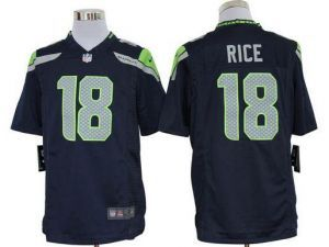 Nike NFL Game Seahawks #18 Sidney Rice Steel Blue Team Color Men's Stitched  Jersey