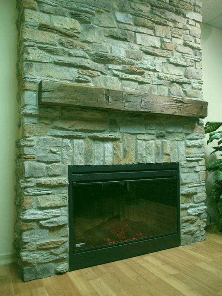 Stone Extends Floor To Ceiling Slightly Offset From