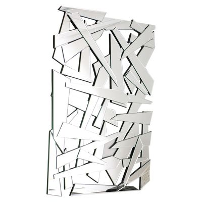 Looking like layered shards of glass, this mirror will be a feature for your wall. It can be displayed portrait or landscape and will look great as a contemporary piece of wall art.
