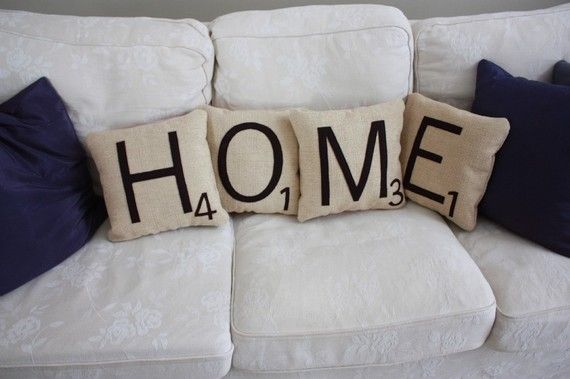 really? who doesn't love scrabble?  Love the pillow idea even more than the frame idea!  : )