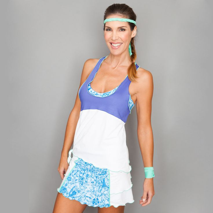 Layer Top by Denise Cronwall, Denise Cronwall Activewear Riviera Collection, #activewear, #tennis, #fitness, #workout, #apparel, #style, #fashion, #unique, #boutique, #training, #pants, #bra, #top, #designer, #skort, #skirt, #geocollection, #athleisure, #short