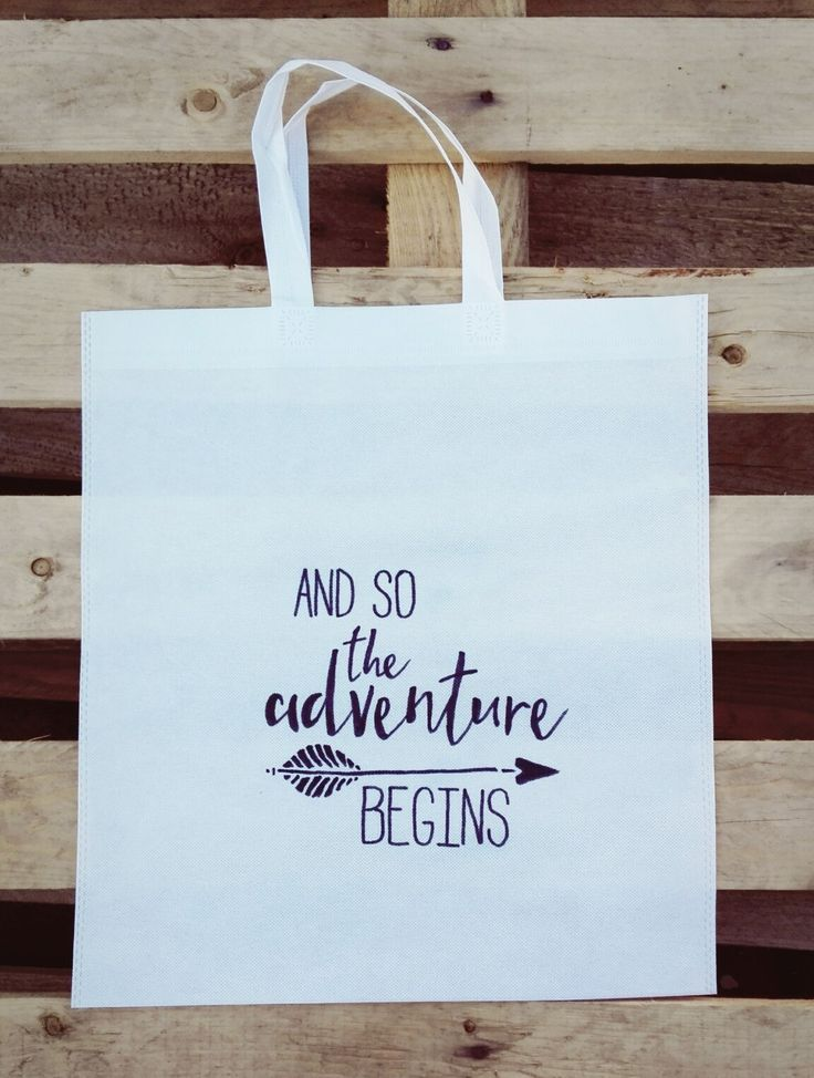 And So The Adventure Begins Woven Tote :)