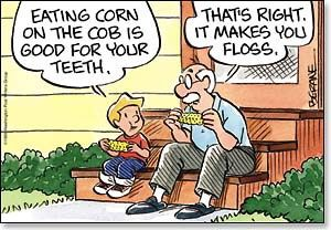 Corn Makes You Floss -  Sharper Cards