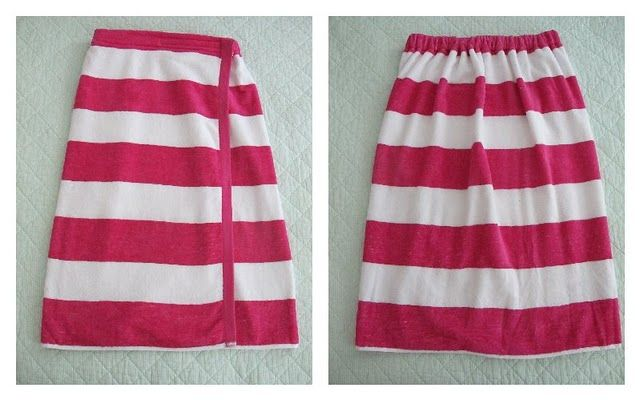 Beach Towel/Spa wrap; no cut and so easy to sew.