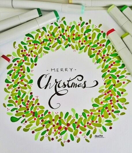 Merry x'mas garland by dinanita