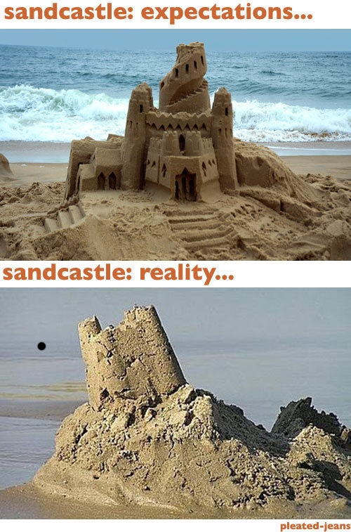 Beach: Expectations Vs Reality