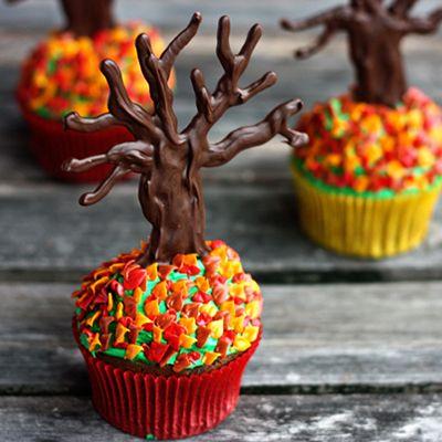 #KatieSheaDesign ♡❤ ❥  Fall Cupcakes