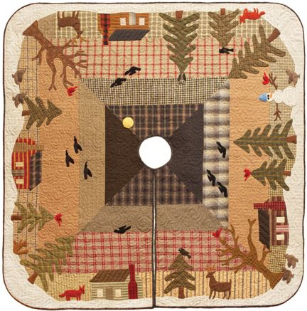 Woodland Tree Skirt Applique Quilt Pattern By Norma Whaley