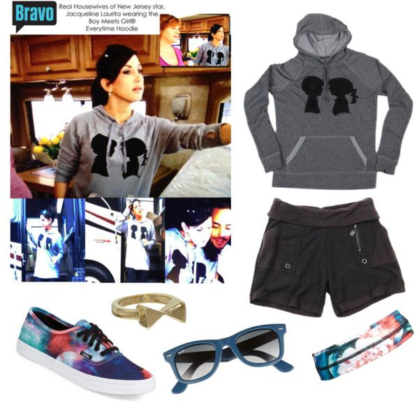 Boy Meets Girl®'s Everytime Hoodie on Jacqueline Laurita of Real Housewives of New Jersey! by boymeetsgirlusa on Polyvore featuring Boy Meets Girl, Vans, Ray-Ban, BP., newjersey, boymeetsgirl, boymeetsgirlusa, romanluxe and realhousewives
