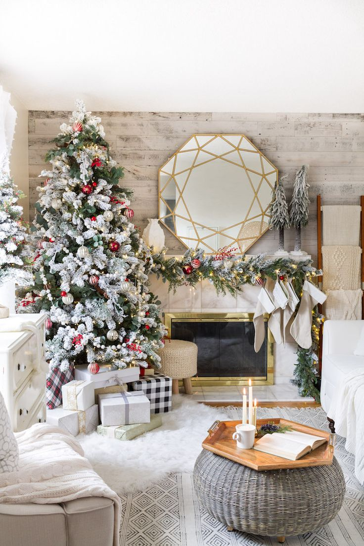 Holiday Housewalk 2017 A festive Christmas home with pops of red, eclectic pieces and some casual chic style.