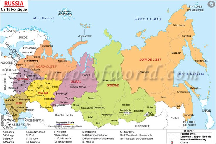 Carte de la Russie (#Map of #Russia)