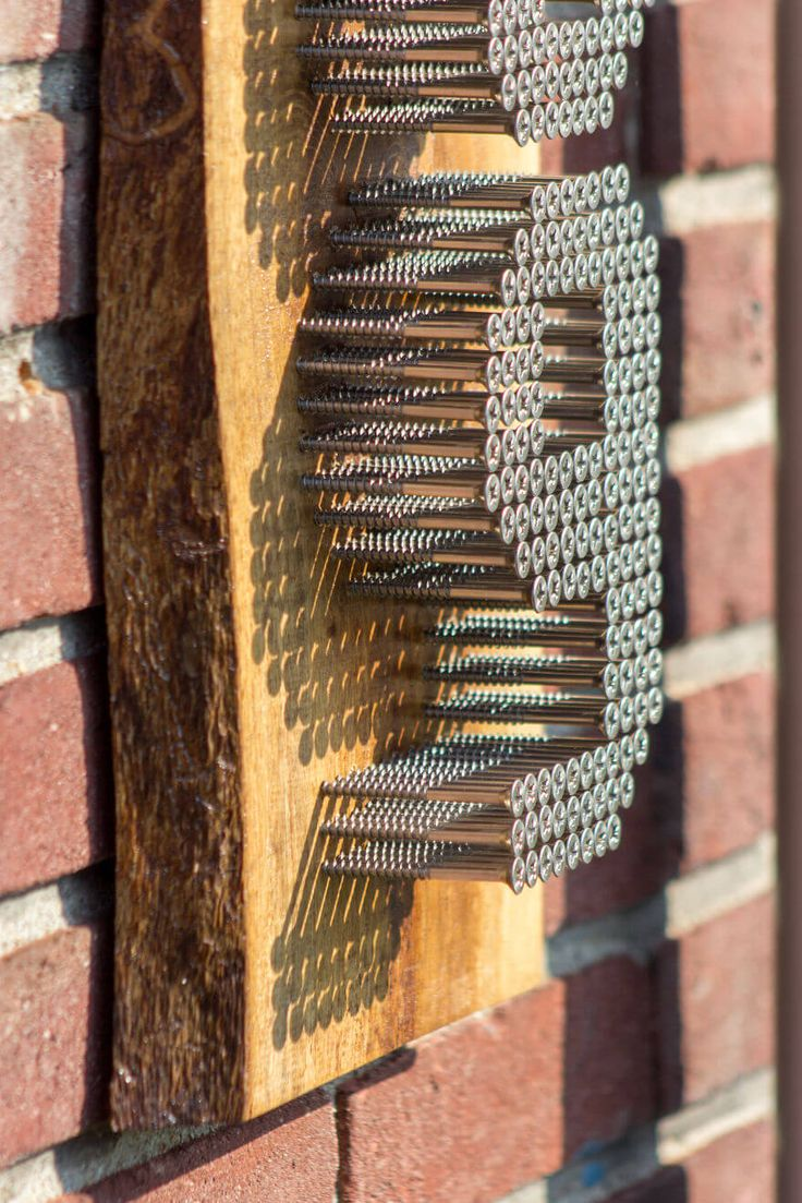 Simple Creative House Number Ideas with Screws
