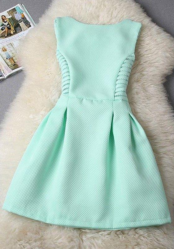 Pink-Blue Plain Lace Sleeveless Slim Midi Dress