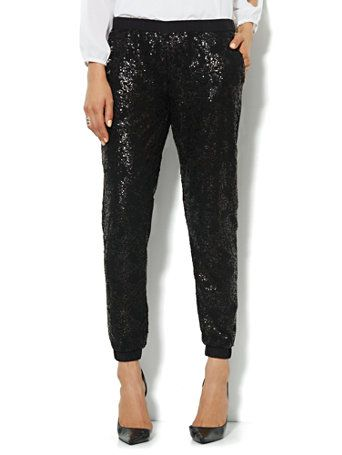 Shop Sequin Jogger Soft Pant. Find your perfect size online at the best price at New York & Company.