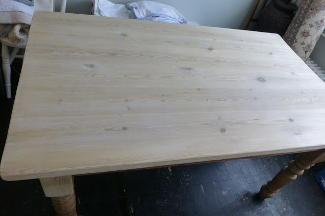 Paint and Style: Wood bleach results...and a scrubbed pine table top