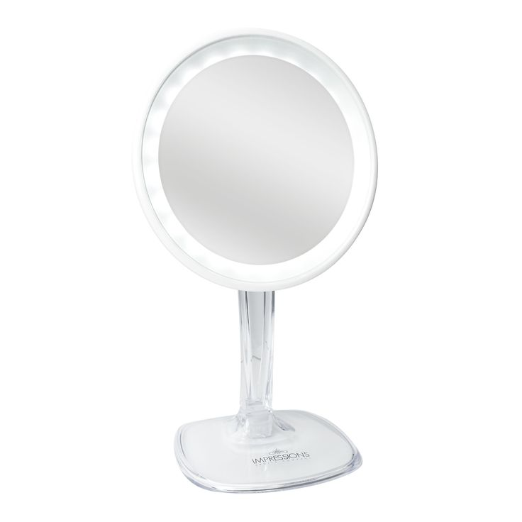 Impressions Vanity | Impressions Vanity Rechargeable LED Lighted Vanity Mirror with 10X Magnification in White