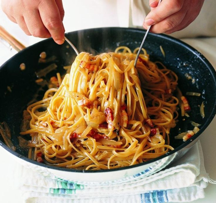 Just wanted to share this delicious recipe from Lidia Bastianich with you - Buon Gusto! Bucatini with Pancetta, Tomato, and Onion
