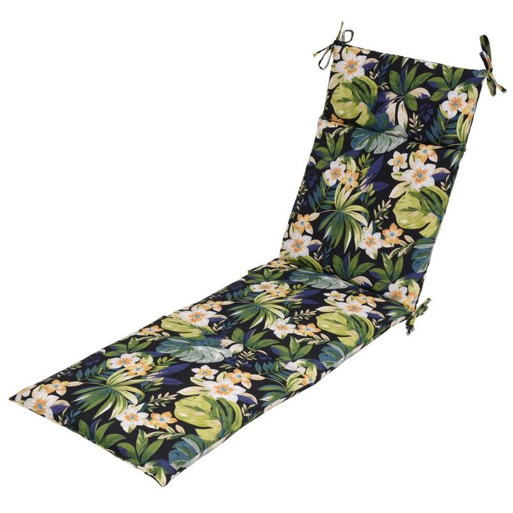 null Caprice Tropical Outdoor Chaise Lounge Cushion