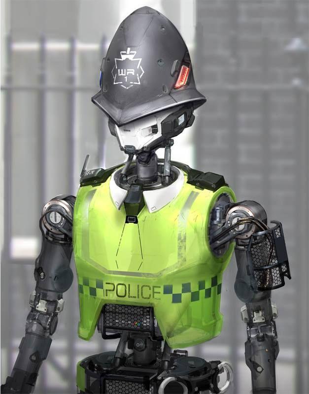 Robo Bobby Robotic British Copper Police Cop Robot