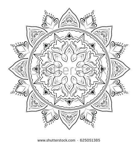 Mandala. Round Ornament Pattern. Geometric circle element made in vector. Spiritual and ritual symbol of Islam, Arabic, Indian religions.  Oriental motifs.