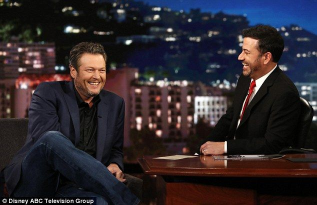 Blake spent his Thursday night chatting with Jimmy Kimmel  on the late night show about Gwen and The Golden Girls