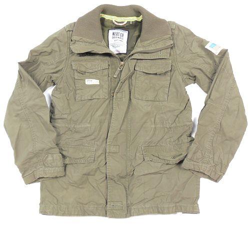 BRUMLA.CZ – Značkový dětský a dospělý second hand a outlet, použité oděvy pro děti a dospělé - Khaki plátěná bunda zn. Next