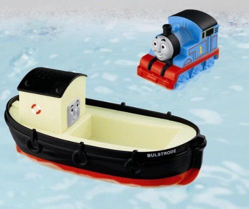 Fisher-Price Thomas The Train: Bulstrode Bath Buddies by Fisher-Price. $12.99. From the Manufacturer                Now you can bring your favorite friends from thomas and friends into the tub for some splashy fun. Thomas has hopped a ride on his pal Bulstrode for a little bath time fun. Watch bulstrode float and even use his top as a water scooper. Give thomas a squeeze and he'll shoot a whoosh of water from his smokestack.